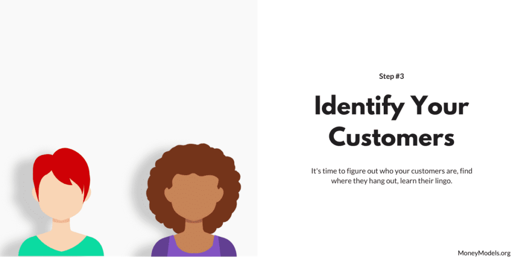 Identify your customers of a business