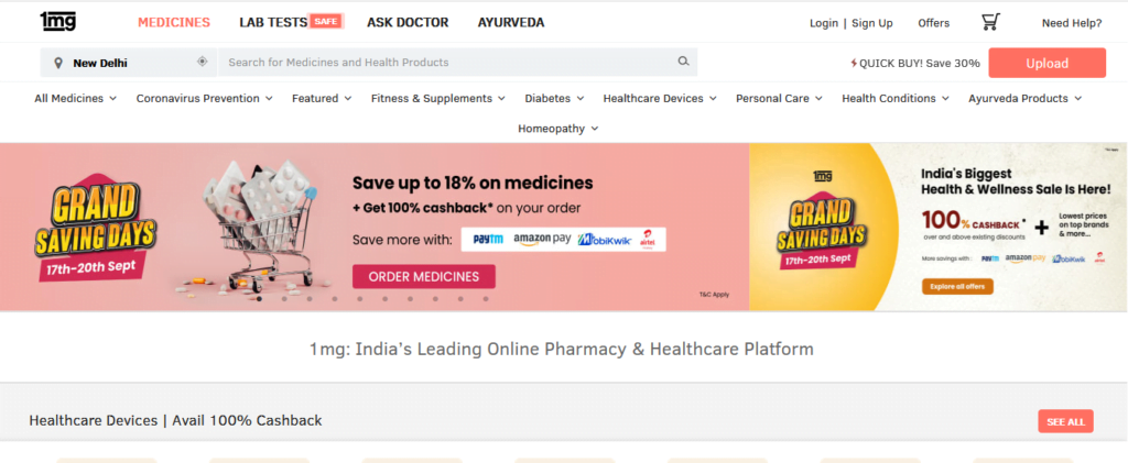 1mg business model of online medicine delivery