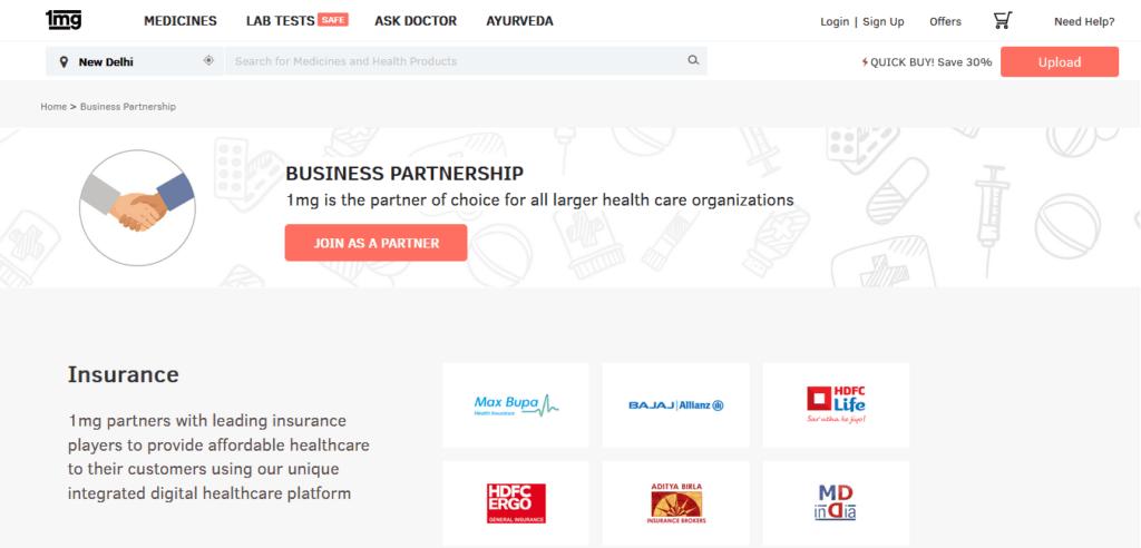 heatlhcare partnerships 1mg business model how does 1mg make money