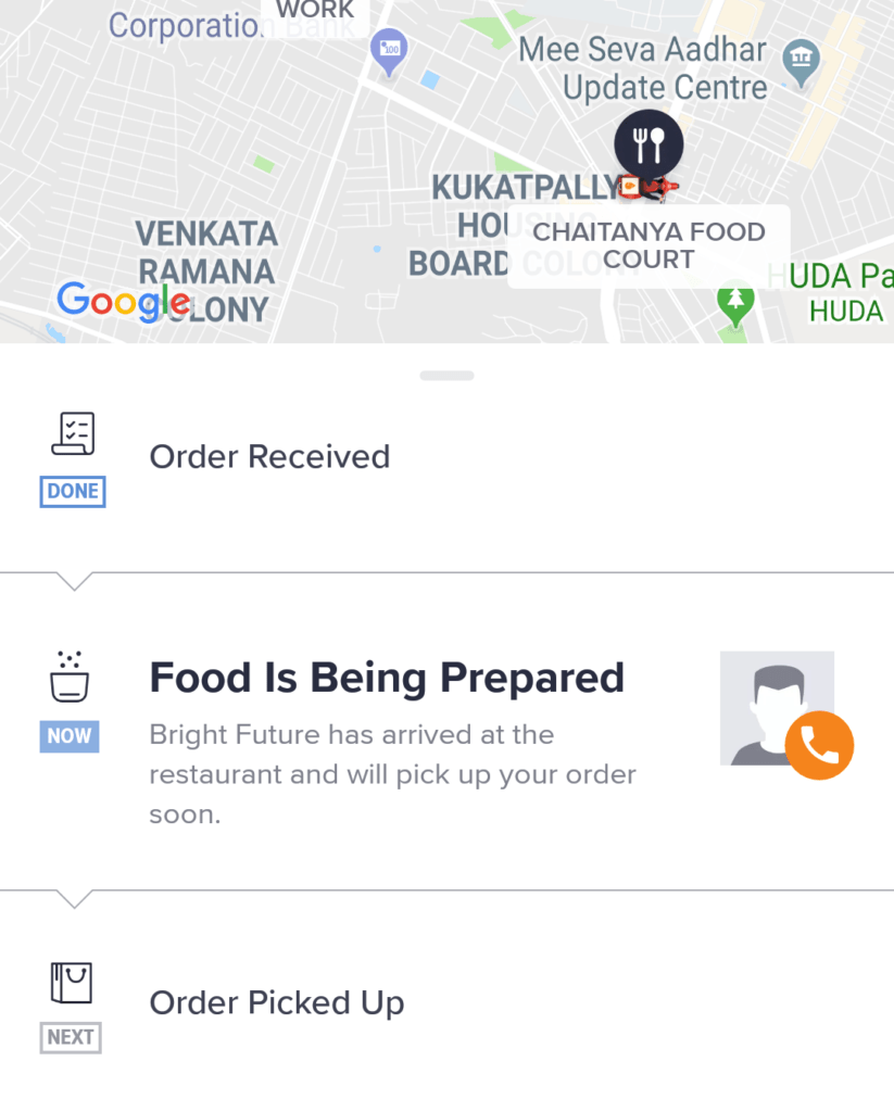swiggy tracking